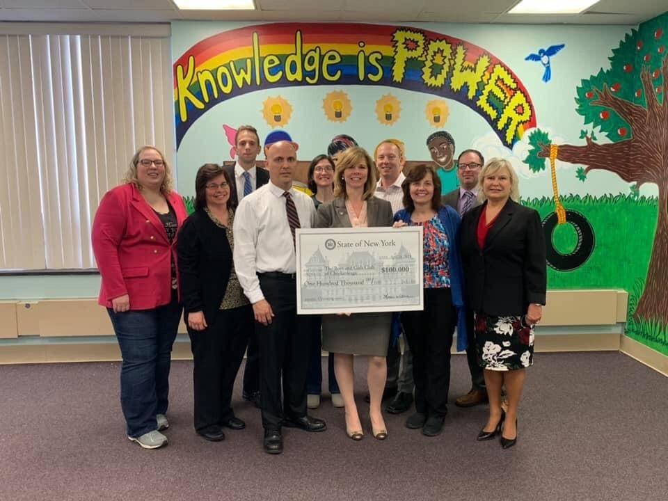 NYS Assemblywoman Monica Wallace - Boys & Girls Club of Cheektowaga Donation