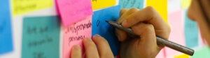 Board of sticky notes